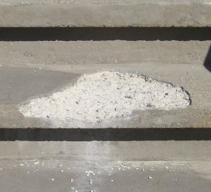 rock salt damage on concrete